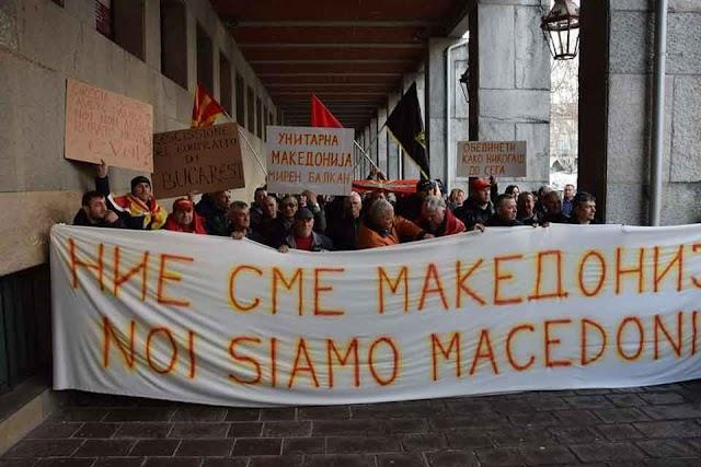 """""""Wir sind Mazedonien"""" Auslandsmazedonier protestieren in Diaspora"""