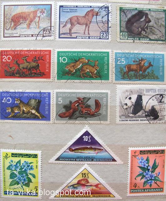 марки ГДР Афганистан Монголия