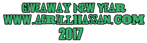 Giveaway New Year 2017 by www.aerillhassan.com