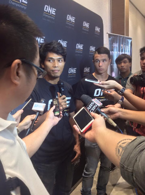 """world title challenger Reece """"Lightning"""" McLaren (Fil-Aussie), and Pinoy fighter Eugene Toquero."""