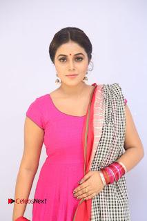 Actress Poorna Pictures in Red Salwar Kameez at Jayammu Nischayammu Raa Teaser Launch 0011