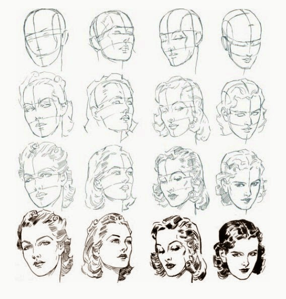 dessiner un visage pas a pas