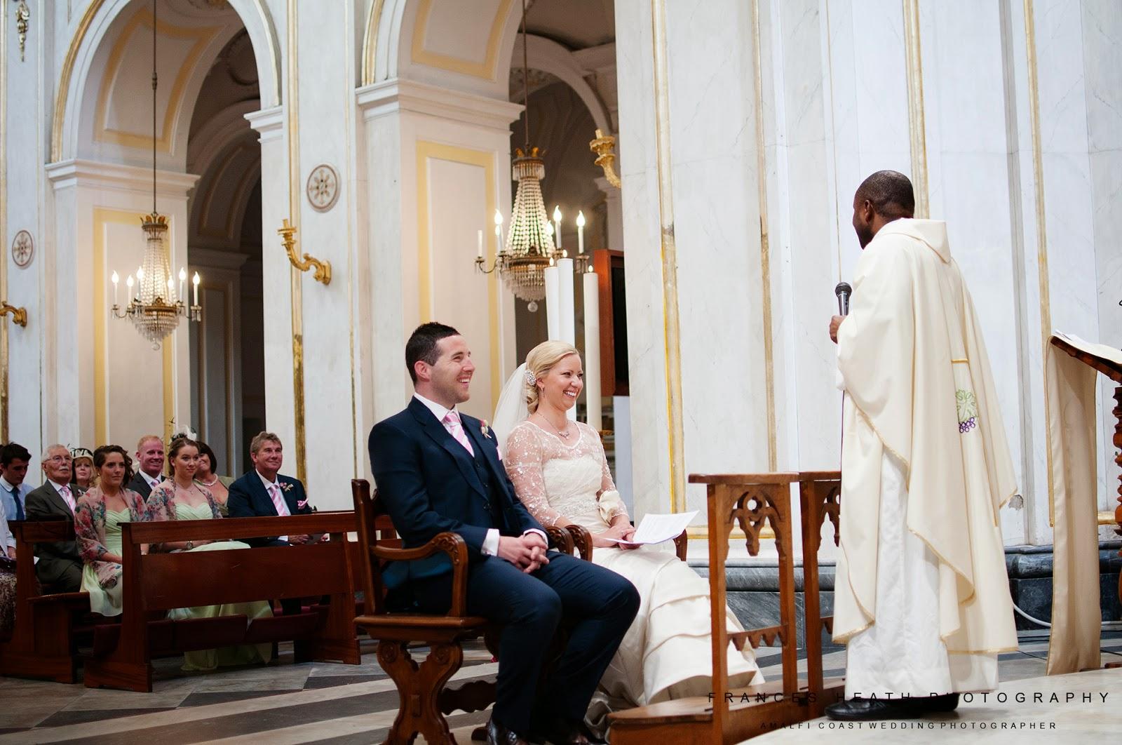 Catholic ceremony in Positano church