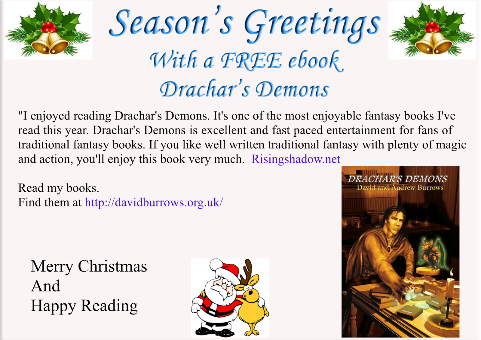 David Burrows - Fantasy Author and Tips on Writing a Book.: FREE for ...