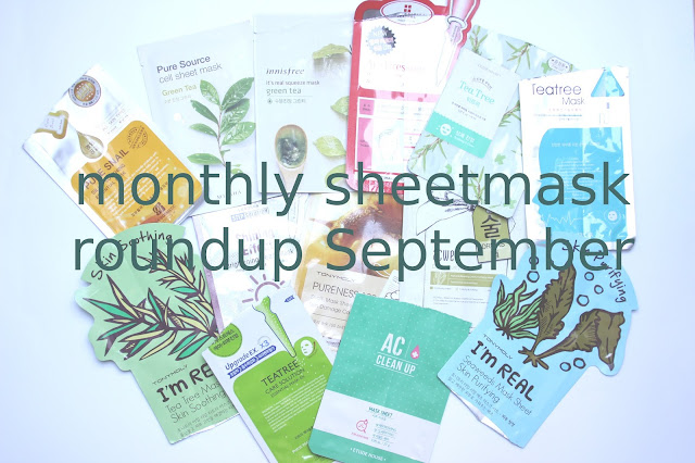 Sheetmask Roundup September 2016