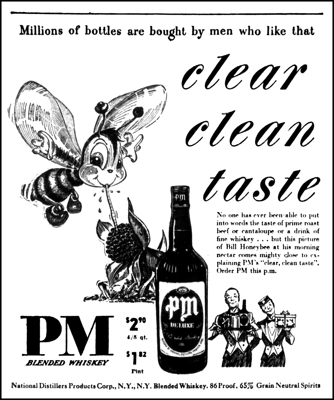 brady s bunch of lorain county nostalgia Good Advertisements bee lieve it or not the above ad for pm blended whiskey which ran in the lorain journal on november 16 1949 caught my eye