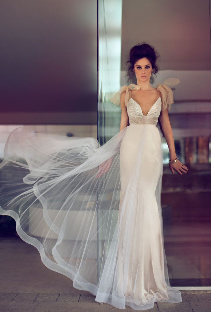 "Saturday's Featured Collection | Zahavit Tshuba 2016""Blush Powder"" Wedding Dresses"