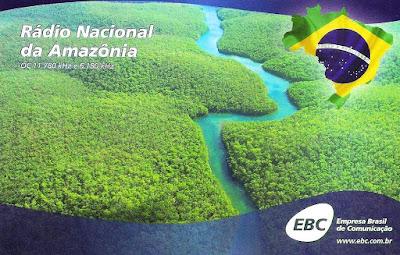 Resultado de imagem para QSL Radio Nacional da Amazonia