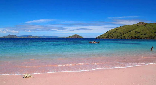 PLAGE PINK SAND BEACH ILE HARBOURS