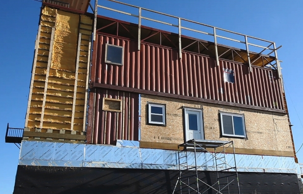 Rimbey+home+built+from+30+steel+shipping+containers+ Building A Walkout Basement On Level Ground