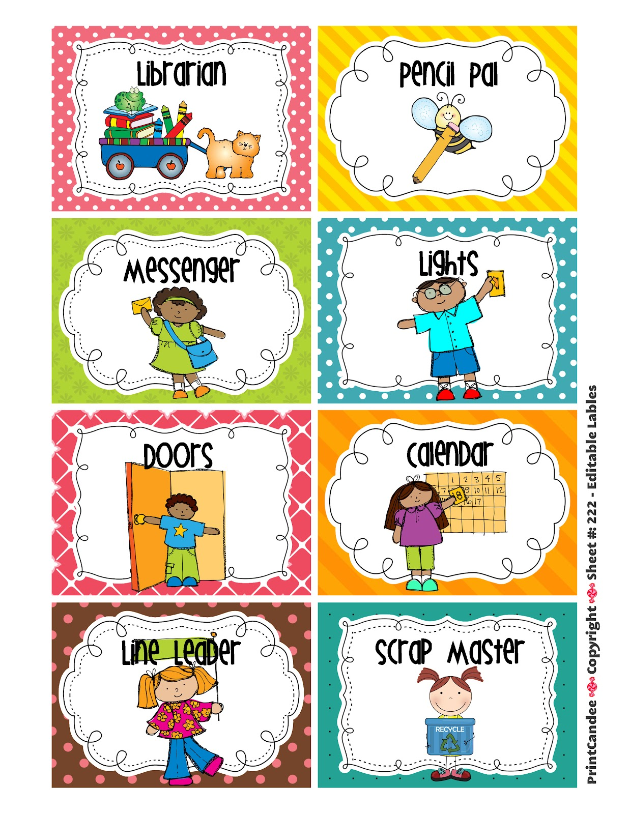 kindergarten clipart classroom jobs - photo #4