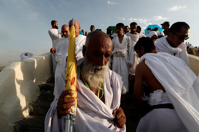 "An old pilgrim I suppose from India descending from Mount Arafat ""Reuters"""