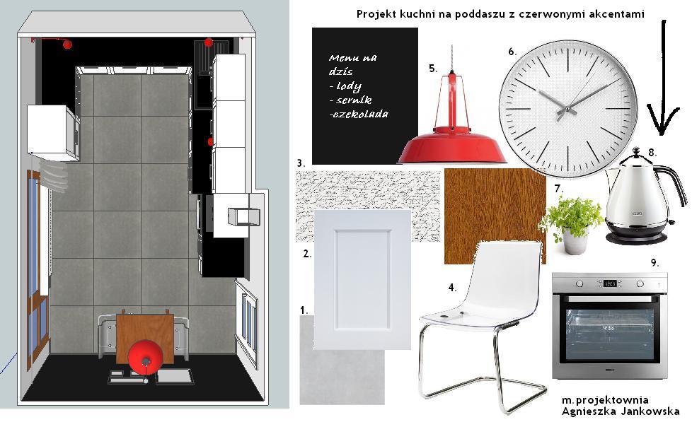 M Projektownia Projekt Kuchni Na Poddaszu