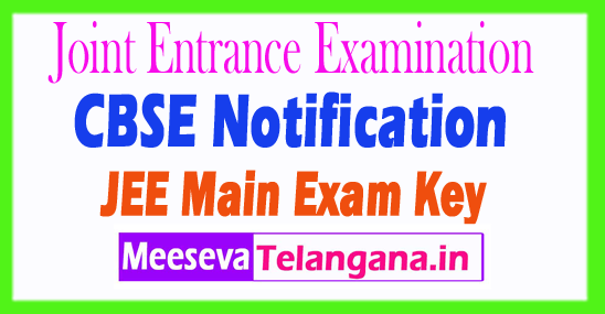 Joint Entrance Exam Main Answer Key 2018 With Solutions Download IIT JEE Main Exam Key Set Wise