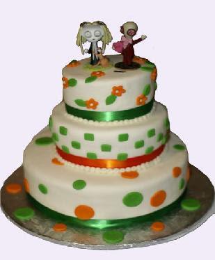 Irish Design Wedding Cake