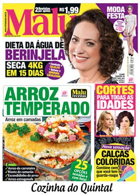 Paula Mello na Revista Malu - Coluna Papo de Cozinha