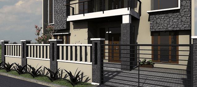 Gambar Pagar Beton Rumah Minimalis Rumah Joglo Limasan Work
