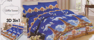 Sprei Lady Rose Eiffle Tower