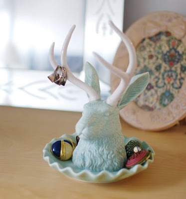 Jackelope jewelry holder