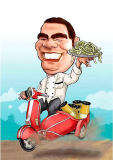 caricatura master chef