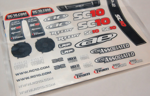 Team Associated SC10 decals