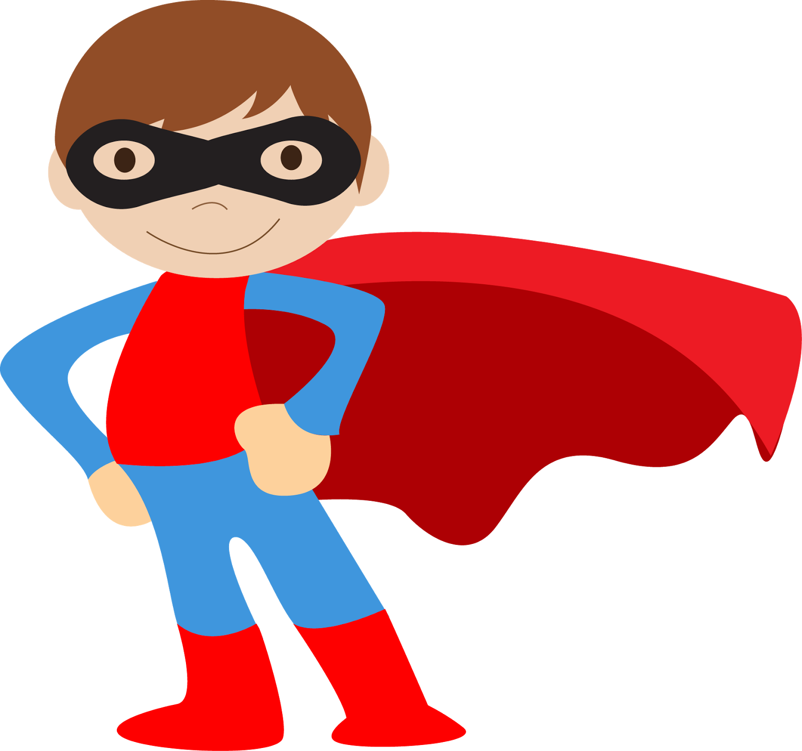 Kids Dressed As Superheroes Clipart