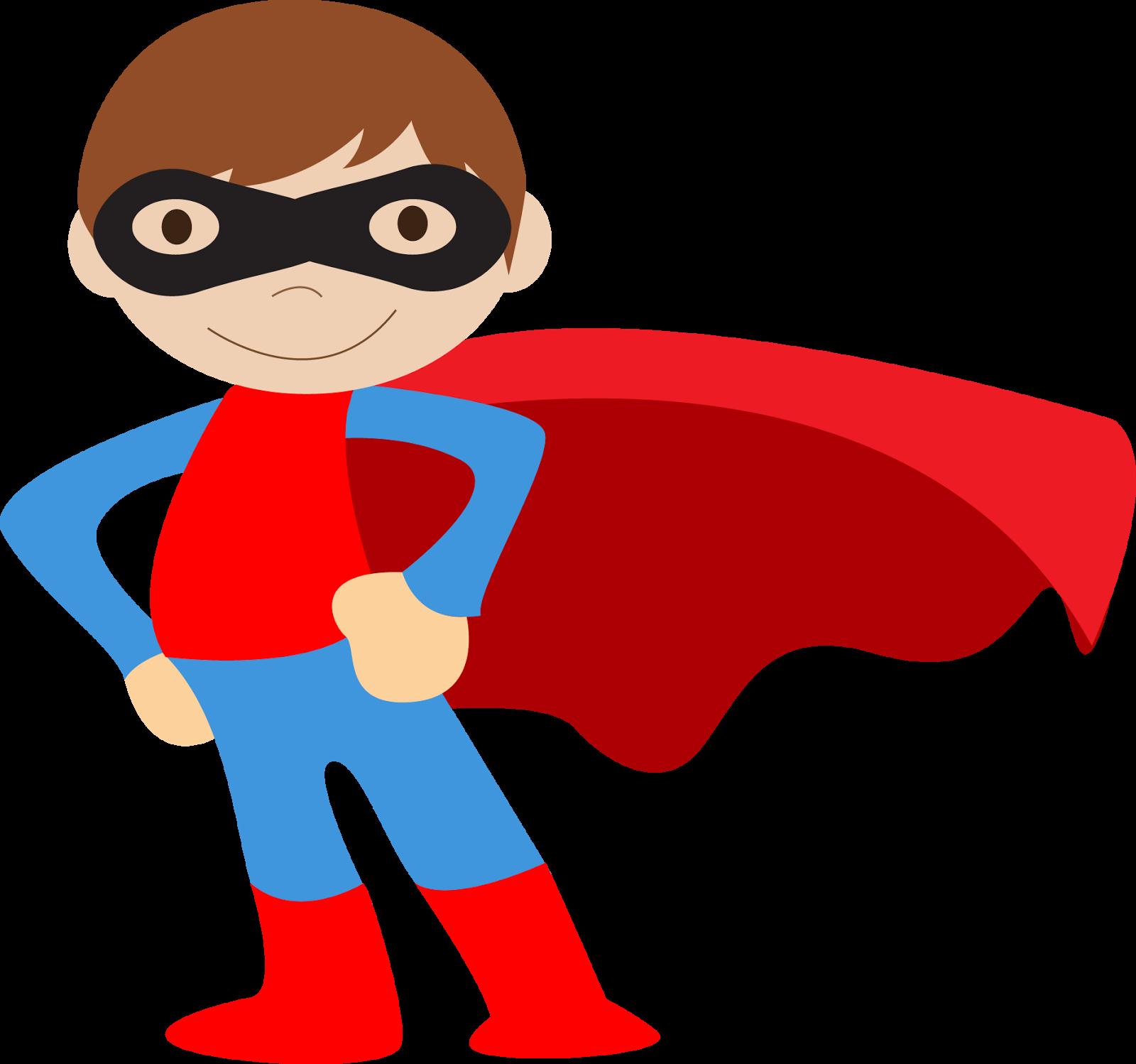 Kids Dressed As Superheroes Clipart