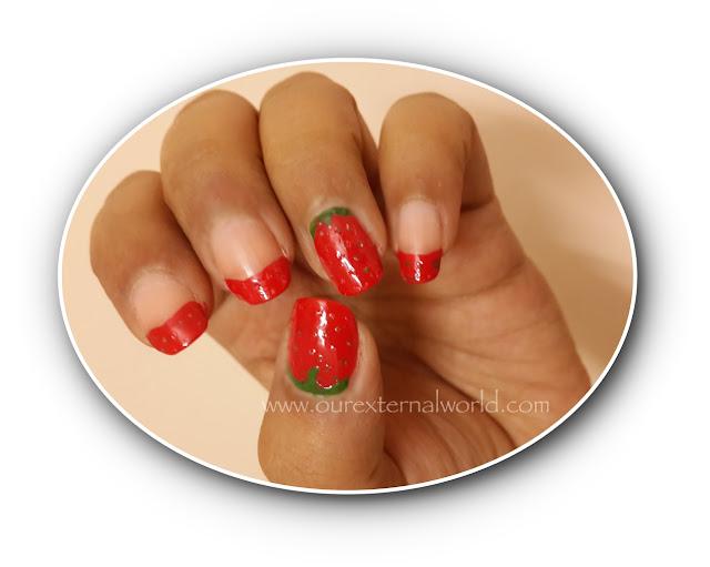HPB Presents Strawberry Nail Art