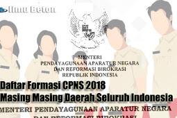 Download Daftar Kuota Formasi CPNS 2018 Masing Masing Daerah Seluruh Indonesia