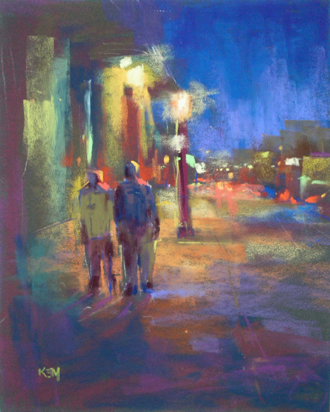 Street Light At Night Painting Painting My World Painting Lights At Night My Favorite