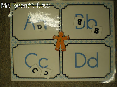 Gingerbread Man math and literacy activities and centers for Kindergarten