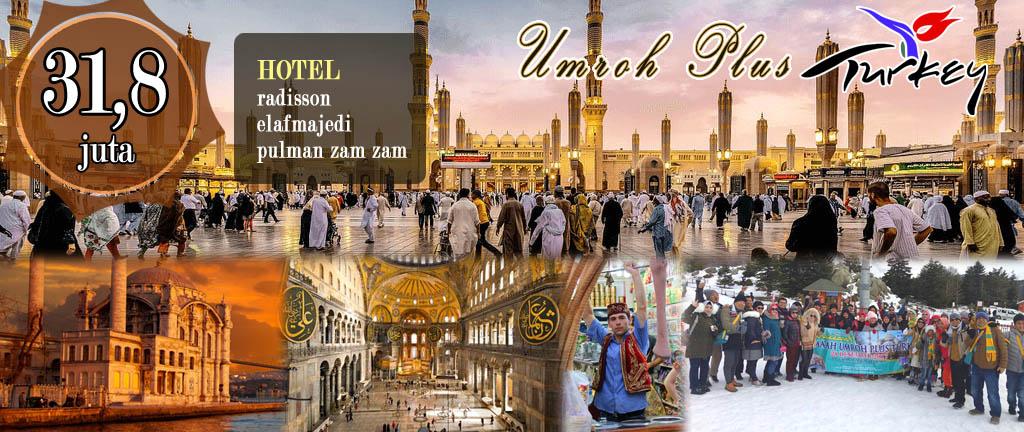 Biaya Umroh Plus Turki 2018 khazzanah tour