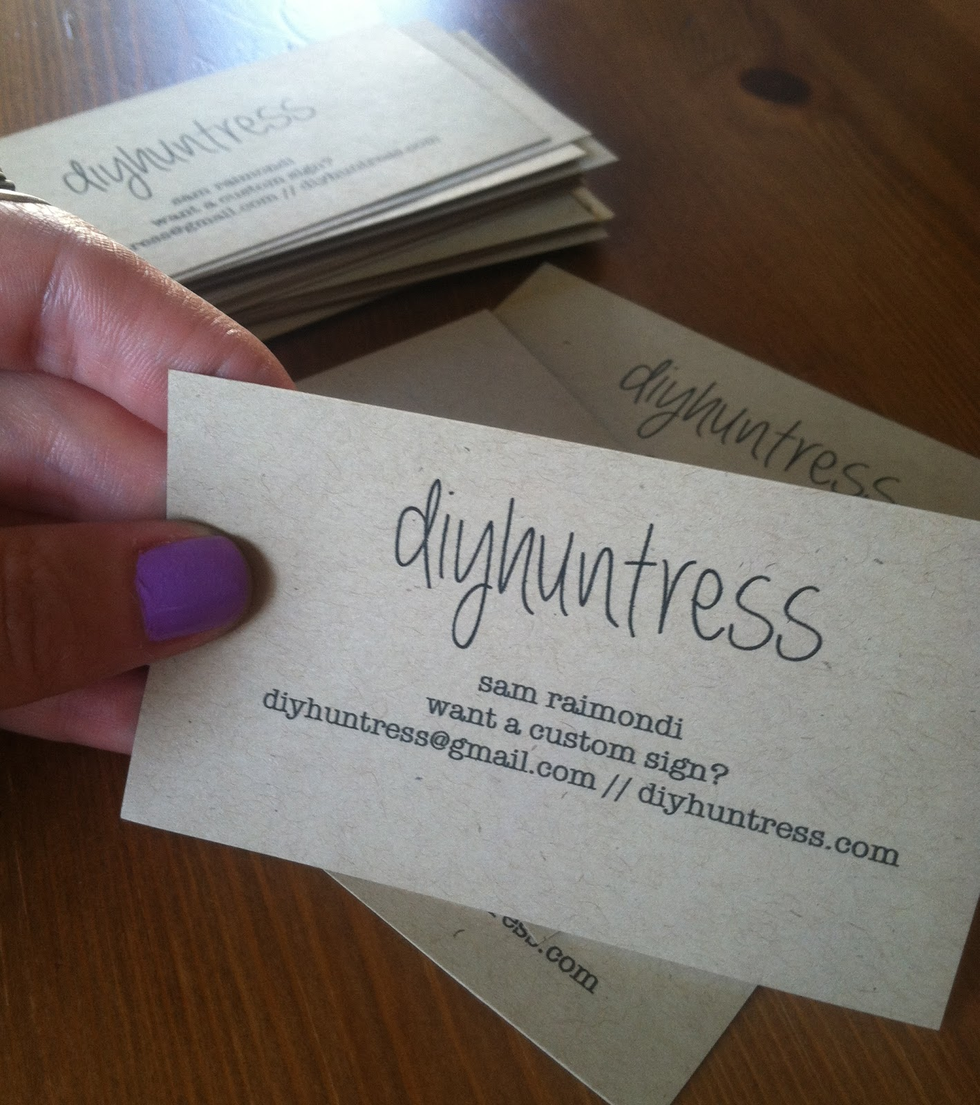 create your own business cards  diy huntress