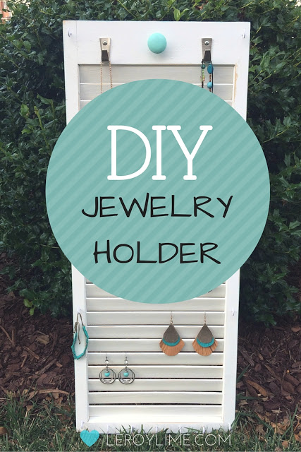 DIY Jewelry Holder - LeroyLime