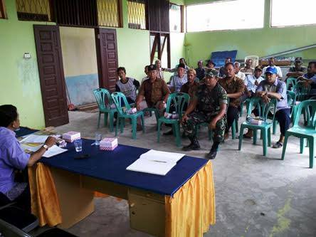 Babinsa Koramil 05/Tanjung Tiram Hadiri Rapat P2T3 di Balai Desa Sukarejo