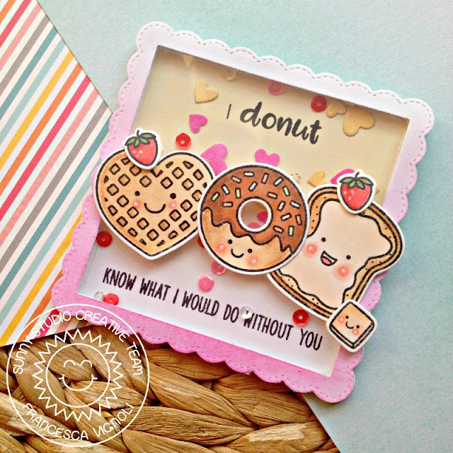 Sunny Studio Stamps: Breakfast Puns Mini Shaker Breakfast Card by Franci Vignoli
