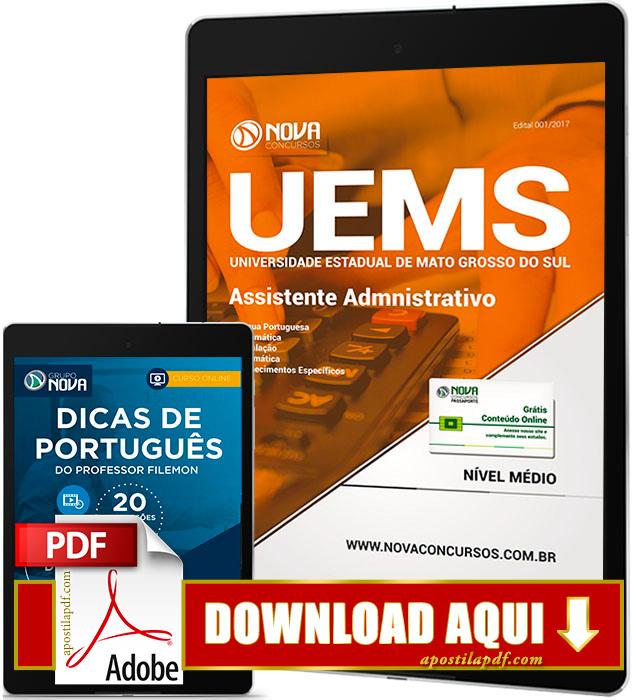 Apostila UEMS 2017 PDF Download Assistente Administrativo