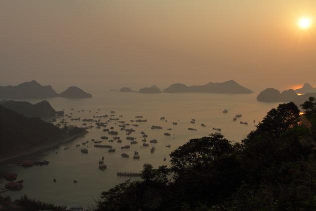 Sunset view from Cat Ba Island, Vietnam