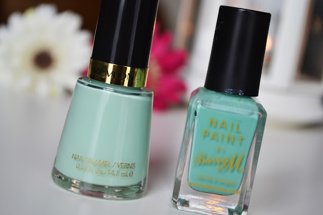 Revlon and Barry M Mint Nail Polish