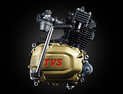 New TVS Radeon 110cc engine