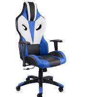 Logo Prova a vincere gratis una sedia da ufficio Optimus nero / blu / bianco TecTake