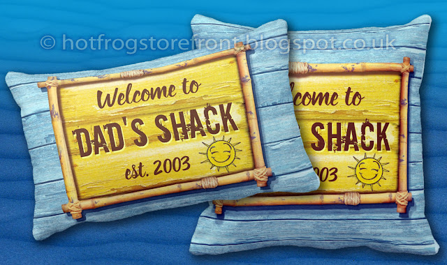 Photograph of cushions in Driftwood Beach design