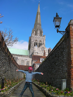 chichester cathedral and flint brick walls