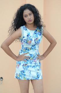 Actress Priyankha Stills in Floral Short Dress at Golmal Gullu Movie Pressmeet 0200.JPG