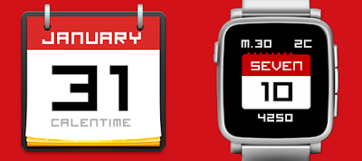 Calentime watchface - Pebble Time / Time Steel / Pebble 2