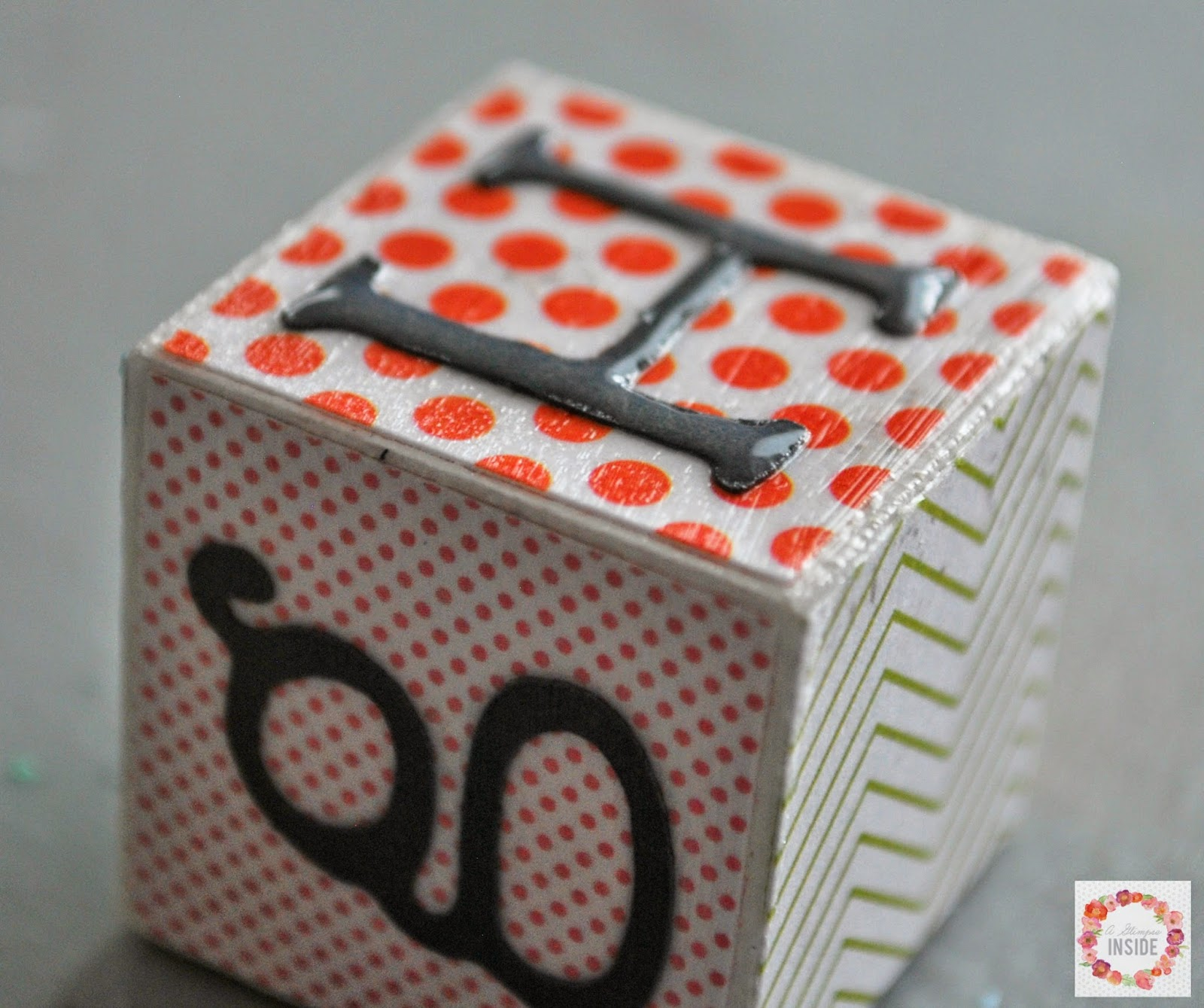 DIY Alphabet Blocks by A Glimpse Inside | Mabey She Made It | # DIY #alphabet #school #blocks