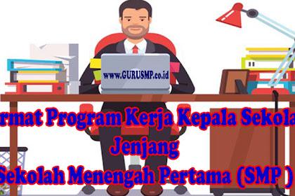 Format Program Kerja Kepala Sekolah Jenjang Sekolah Menengah Pertama (SMP )