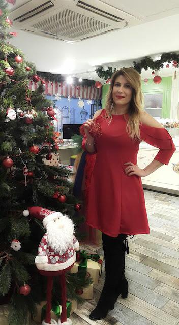 Patırtı.com sırt düğme detaylı kırmızı elbise