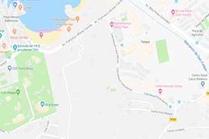 Plano de ubicación de los establecimientos hoteleros próximos al Loro Parque