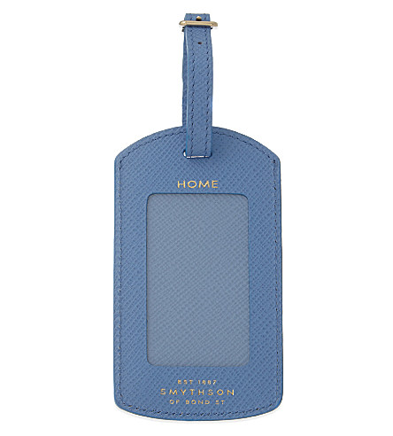 Blue Travel Tag with Gold embossing